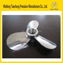 Weifang top quality high cost performance stainless steel boat impeller casting parts