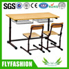SF-01D School double desk and chair,classroom desk and chair set