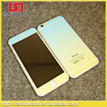 2015 new arrival colorful 2.5D round edge tempered glass film for iphone 6