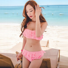 Korea sexy bikini push up beach bathing suits girl best swimsuits