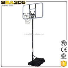 fiberglass removable easy assembly basketball stand