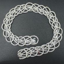 100% good flatback crystal rhinestone chain trimming.elegant best-selling fashion annular rhinestone trimming