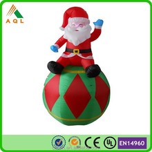 Super popular top quality creative design 25ft Inflatable Santa for Christmas