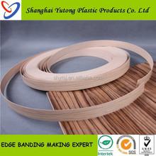 pvc edge banding protector furnitures ,wood grain pvc plastic edge banding made in Shanghai Foctory