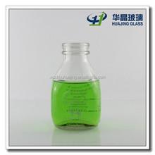 473ml 16oz custom made empty glass milk bottles with plastic caps wholesale