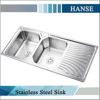 K-E12050 fancy sri lanka double bowl stainless steel kitchen sink overflow