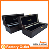 promotion custom design attractive style stand leather wine box