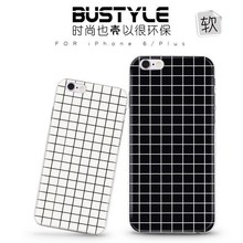 Simple grid design soft mobile cover case for iPhone 6 plus for Samsung galaxy s5 s6 edge for men at factory price
