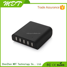 Wholesale Phone Accessory 5V8A 5-port USB Charger 40W 5USB Charger Station with Smart IC