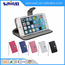 5.5 inch wholesale wallet style leather blank fancy cell phone cases sticker card holder for iPhone 6 plus