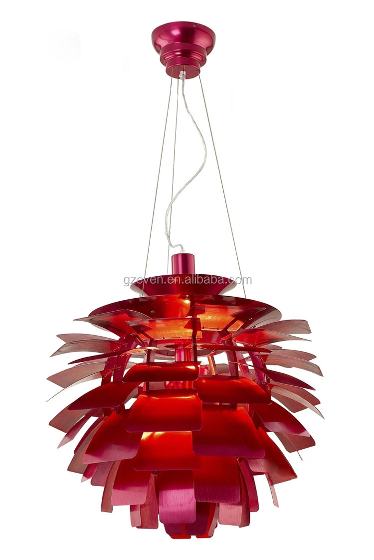 Famoso designer replica lampada ph artichoke lampada in alluminio ...