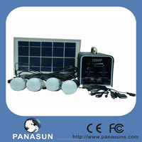 solar power for home with led light and solar panel