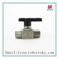 stainless steel mini ball valve nature gas straight style