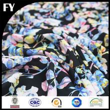Custom high quality digital printed embroidered silk organza fabric