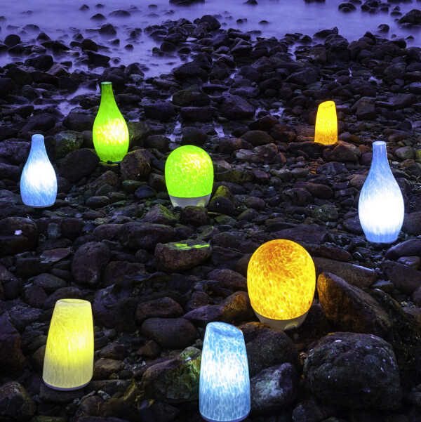 reading lamp Cordless Rechargeable LED Lamp handblown glass mobile lamp table lamp camp lamp