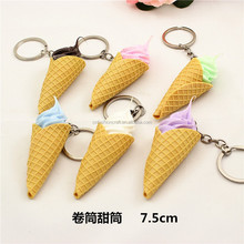 Wholesale promotional products 3d mini customize ice cream keychains