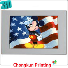3D lenticular printing plastic red-blue 3d glasses pictures 3d glass for gift