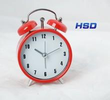 HSD Promotion Gift Quartz Clock Table Clock Metal Alarm Clock A0068