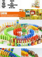 NEW 200 Piece Domino Rally Wooden Boys Girls Toy Game Building Blocks