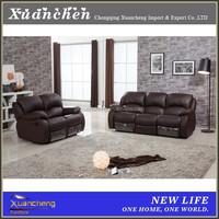 genuine leather reclining headrest loveseat sofa,XC-AL502