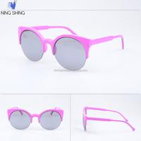Various Sizes Unisex Cat Eye Round Trendy Mirror Sunglasses Wholesale Dropship