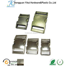 manufactory wholesale metal buckle/curved buckle/side release buckle for dog collar&bag accessories 3/4'' & 1'' custom logo