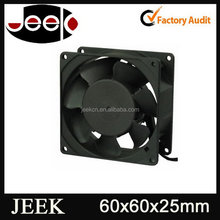 Top quality newly design psc low noise 110v dc cooling fan 60x60x25