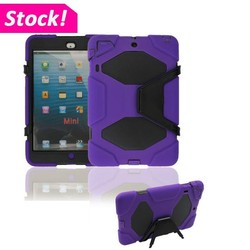 Shockproof Military Heavy Duty Rubber Hard Stand Case Tablet Cover For iPad mini 123