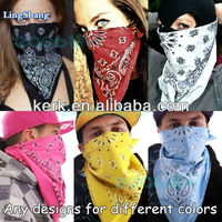 LSC 102 , fashionable newest 100%cotton square hot sale bicycle hip hop printing Square Bandana