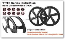 2015 YISHUNBIKE 700c Road Bike 66mm Track Pro Hot Selling Wheels 5 Spoke Carbon Best Fashion Wheel For Bicycle FIVE-SPOKE-C-F