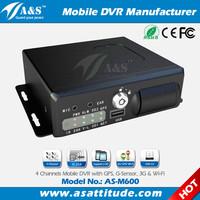 Free Client Software H.264 DVR 4CH 3G Mobile Car DVR