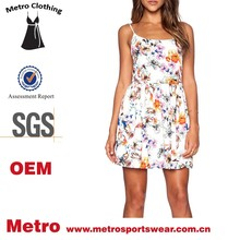 2015 summer outfit for ladies cutest mini floral flare dress