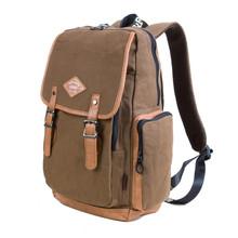 bonita mochila de lona de venta al por mayor bolsas mochila mochila vintage mochila compartimiento principal bag