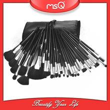 msq 32 piezas de negro sintético pincel de maquillaje profesional set