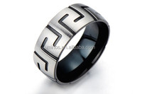 Newest Jewelry 2015 Popular Stainless Steel Greek Key Mens Ring Ring