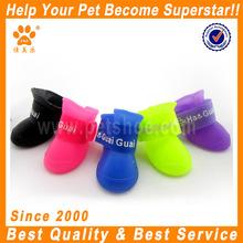 4 x pet dog calçados impermeáveis botas de chuva botas de borracha sapatos de cores doces