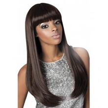 Wholesale grade 7a color #1b virgin human hair full lace wig brazilian remy with bangs