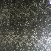 2015 Manufactory Low Price Popular Style Top Quality Snake skin Yangbuck Metallic PU Artificial leather