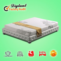 comfortable thin spring vacuum packed latex free mattress
