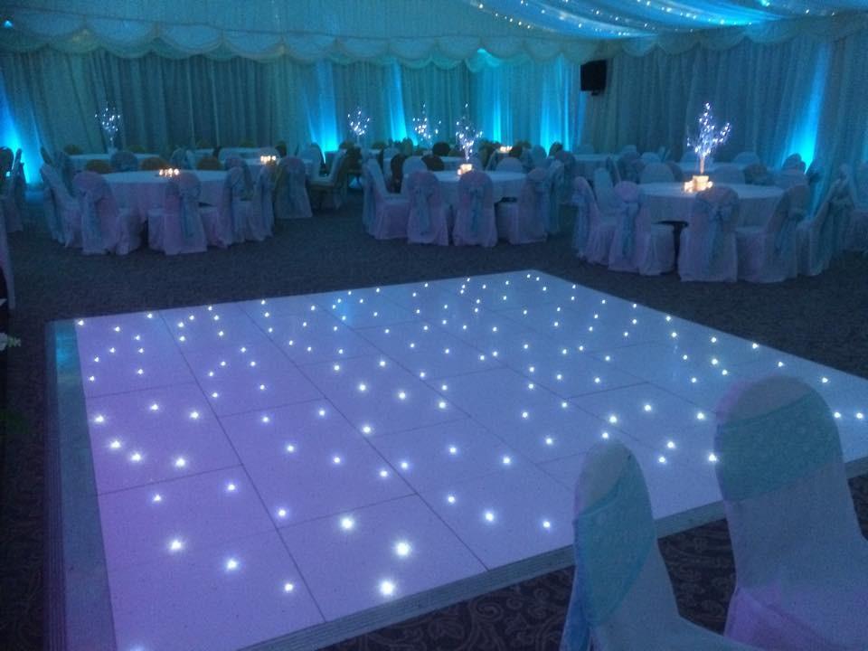 Portable Lighted Dance Floor : Portable star light dance floor for event white