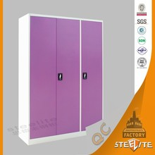 Cheap Price Excellent Quality Simple Pink Wardrobe Closet / Steel Armoire