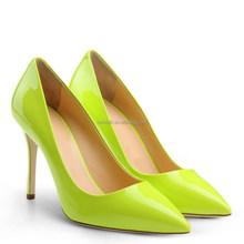 High heel dress shoes wholesale shoes lady fashion candy color heels 10cm pointy toe custom heel pumps
