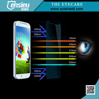 0.3mm 9H 2.5D Round Anti Blue Light Tempered Glass Screen Shield for Galaxy S4