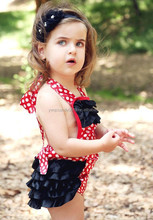 baby kids wear red with white dot bubble romper summer style children romper cheap wholesale