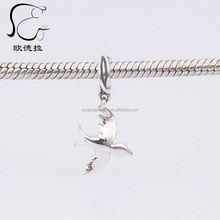 lobster pave silver diamond clasp pendant