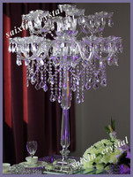 Gorgeous crystal candelabra wedding high table decor decoration