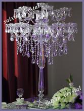 Gorgeous crystal candelabra wedding high table decor decoration