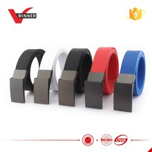 Metal Buckle changeable Silicone Colorful Men Belt