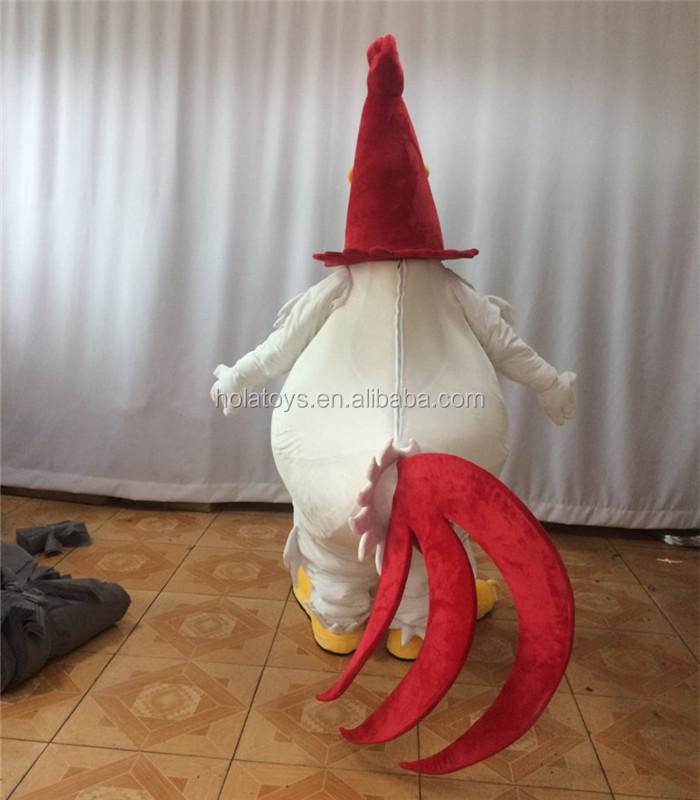 HOLA frango mascot costume/traje da mascote personalizado para venda