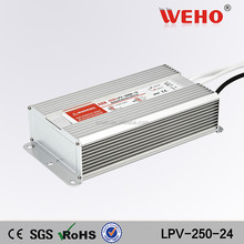 WEHO waterproof LPV-250-24 250w 24v smps switching power supplier